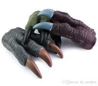 1 pc látex diy artificial dinossauro garra modelo luvas de brinquedo Tiranossauro rex dragão simulação dinossauro patas cosplay menino brinquedo