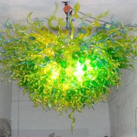 Art Deco Custom Made Lamps Nordic Hand Blown Glass Chandelier for Home Bedroom Dining Living Room Decor Green Colored Decoration Indoor Lighting 130*130cm Light