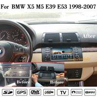 Android10.0 자동차 DVD 플레이어 멀티미디어 시스템 octa 코어 1024x600 HD 터치 스크린 BMW 5 E39 X5 E53 M5 1998-2007 오디오 비디오 스테레오 GPS 네비게이션