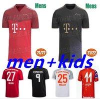 Бавария Футбол Джерси 21 22 Lewandowski Sane Munich Coman Muller Davies Футбольная рубашка Мужчины Детский комплект 2021 2022 Четвертый 4-й