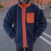 mens down jackets winter parka classic outdoor Lamb wool designer jacket Letter embroidery zipper couple warm coats