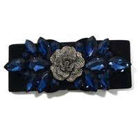 Shiny Rhinestone Belt Elastic Crystal Bead Decorative Skirt Coat Waistband Women Street Style Diamond Waist Belts