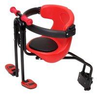 Sillín de bicicletas para niños Asiento para niños Seguridad ajustable Lanzamiento rápido para la carretera MTB plegable (rojo)