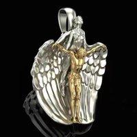 매력 거룩한 구속 천사 예수 펜던트 쥬얼리를위한 종교 스타일기도 모델링 크리스마스 선물 액세서리
