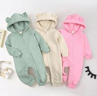 Baby boy girls ribbed Romper INS Newborn solid Jumpsuits autumn \winter Boutique long sleeve kids Climbing clothes