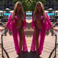 Yaz Kadın Elbise Plaj Kapak Up Şifon Robe Plage Şeker Renk Kaftan Bikini Tunik Malaya Toplantısı Mayo