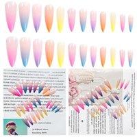 Nail Art Kits 20Pcs   Set Gradient Color Ballerina Tips Cover Shape Coffin Full Flat Fake False Manicure X0B1