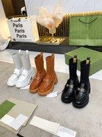 Designer Hohe Qualität Womens gestrickte Wolle Mittelstiefel Leder Mode Winter Flache Boden Runder Kopf Berühmte Produkte Zwei Tragen Kleine weiße Schuhe Größe 35-41