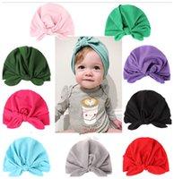 Baby Turban Cap India's Hat warm Headband Bow Knot Headbands Soft Cotton Headwraps Stretchy Children Girls Fashion Hairs Accessories