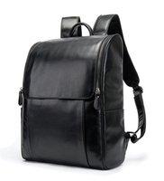 Men Backpack Genuine Leather Casual Backpacks Large Capacity Travel Bags Black Schoolbag Outdoor Fashion Men's Shoulders Bag Laptop Packs