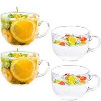 Copo de vidro transparente copo leite uísque latte sorvete de cereal criativo coquetel resistente ao calor bebida copo de vinho copos