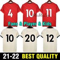 21 22 팬 플레이어 버전 축구 유니폼 Gerrard 스페셜 에디션 Smicer Alonso Hamann Barnes Kuyt Cisse 2021 2022 축구 셔츠 남성 + 키즈 슈트