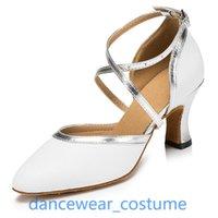 Sandals Ladies Professional Ballroom Latin Tango Modern Rumba Samba Salsa Dance Shoes Heels Shoe US5-9 2Colors