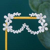 مسمار الزفاف الفاخرة غرامة مجوهرات ماركة لطيف أقراط النساء أزياء لامعة حجر الراين هندسية كريستال النمساوي أعلى جودة