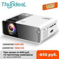 THUNDEAL TD90 Nativo 720P Android WiFi Proyector de teléfono inteligente video película película Mini Proyector Portable