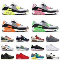 nike air max 90 airmax off white shoes Cojines de alta calidad OG90 90s Zapatillas para correr Musgo Verde Total Naranja Mujeres Mujeres Tenis Zapatillas 36-46