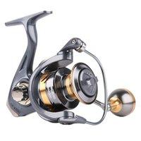 Bobine de pêche en métal de haute qualité 17.8kg Max Drag carpe Rapport à grande vitesse Tournage