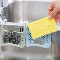 الإبداعية طوي بالوعة رف المطبخ غسل الصحون سبونج ممسحة استنزاف طبق فرشاة الإسفنج التخزين