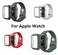 Protective Case For Apple Watch iWatch Series 6 5 4 3 2 1 SE With Tempered Glass Shockproof Cases
