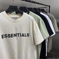 2021 Nuevo miedo a dios Camiseta de manga larga corta 100% 11 Niebla Essentials Camiseta Kanye West Shirt Jerry Lorenzo Flojo Ovesionedo Camiseta de manga corta
