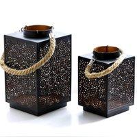 Hangbare Windleuchte Kerzenständer Dekoration Feiertag Schmiedeeisen Winddichte Kerzenhalterinhaber