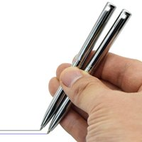مصغرة جيب بالحجم المعدني القلم القلم أسود أزرق حبر صغير محمول الكرة نقطة دوران سجل في أي وقت أقلام الكتابة