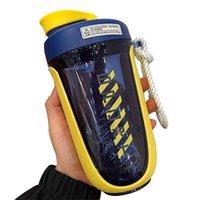 550 ملليلتر kawaii البلاستيك شاكر زجاجة المياه الرياضة رياضة المحمولة سفر بروتين الشراب زجاجات bpa مجانا 210907