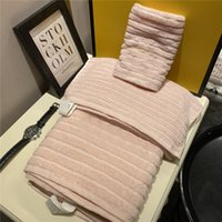 Luxury Golden Embroidery Towel Set 100% Cotton Towels Bath Hair Face Hand Beach Towels For Home Hotel Bathroom 3 Piece Suit