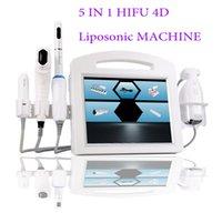 5 в 1 4D Hifu + Ультразвуковая радиолокационная линия V-Max 20000 Снимки 12 линий Лицо снятия кожи, затягивая липозонную машину