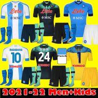 Yetişkin Çocuk Kiti 20 21 Napoli Futbol Forması 2021 Ev Napoli Hamsik Insigne Mertens H.lozano Maradona Dördüncü Futbol Formaları Gömlek