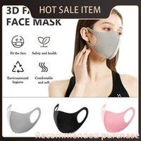 Polvo nueva moda en máscaras 2021 cara de la cubierta de la cubierta de la cara Stock! Diseñador Máscaras Respirador Herramientas a prueba de polvo La boca reutilizable anti algodón seda fue KQEV