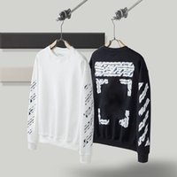 2022 Men women Europe and the United States street Hoodies OFF coated arrow crowned striped loose hoodie cotton sweater WHITE jacket pullover