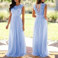 Casual Dresses Dress Women Solid Lace Applique Elegant Coral Sleeveless Hollow Wedding Guest Long Vestidos