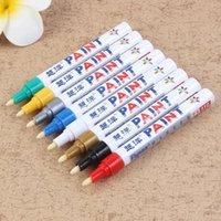 12 ألوان الطلاء ماركر القلم يتلاشى واقية سيارة الإطارات الإطارات فقي cd المعادن علامات الدائمة graffti الزيتية macador caneta القرطاسية