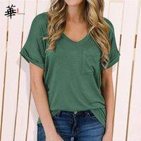 Топ с капюшоном Высокое качество Топы Основные простые рубашки для негабаритной футболки Top Luipaard Pocket Pocket Plus Размер Одежда Женщины Футболки