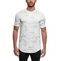 جديد تشغيل تي شيرت الرجال 2020 الصيف تجريب قميص رياضة الرجال التمويه تي شيرت fitnss الرياضة الزى الذكور راشفارد الرياضية تيز