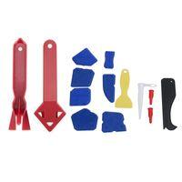 1Set Abkühlentferner und Finisher 12 Stück Dichtungsmittel Werkzeuge Verstemmen Werkzeugkit Silikon Finishing Professionelle Hand Sets