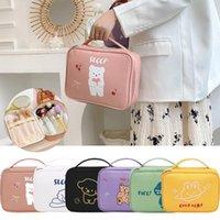 Storage Bags 1pc Multifunction Travel Makeup Bag Women Waterproof Cosmetic Toiletries Organizer Cartoon Make Up Cases