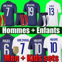 Mailleot De Fot Maillots Football CHEAT 20 21 كرة القدم جيرسي Equipe Equipment Benzema Fekir Pavard زي 2021 Hommes enfants الرجال + Kids Kit مجموعات الجوارب
