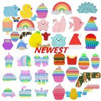 Fidget Toys Rainbow PUSH IT BUBLE SENSORY AUTISMA NECESIDADES ESPECIALES NECESIDAD DE ESFICIAL APRIENDO SCREEZE SENSORY TOYE PARA NIÑOS FAMILIA DHL ENVÍO 2021 NEVERST