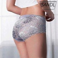 Women's Panties Sandl Cotton Underwear Sexy Lace Mid-waist Hollow Female Briefs Hip Lift Underpants for Lady Plus Size Lingerie