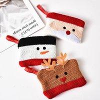 الحزب صالح حقائب اليد الصغيرة الحياكة سستة سماعة حقيبة عملة محفظة المحمولة التخزين المنظم عيد الميلاد الديكور هدية عيد الميلاد DWB9941