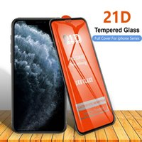 21D Full Cover Tempered Glass Screen Protector film for Iphone 6 6s 7 8 plus X XR 11 12 13 mini Pro Max