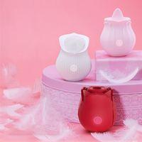 Rose Vibrator Clitorale Saugen Vibratoren Intensive Saugzunge Lick Klitor Stimulator Nippel Massagegerät Erwachsene Spielzeug für Frau G-Spot Oralsex
