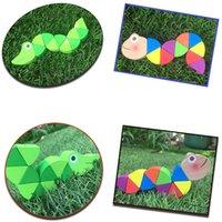 Toys en bois parent-enfant Variété de chenilles de couleur Twist