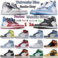 2021 Jumpman 1 Obsidian UNC Lucky Green 1s Mens womens Basketball Shoes Dark Mocha University Blue Multicolor candy Twist Women Sneaker men