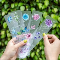 Gift Wrap 1pc Matte PET Retro Plant Stickers Flower Masking Tape Sticker DIY Planner Decoration Scrapbooking School Stationery