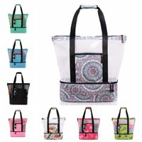 Storage Bag Summer Portable Mesh Picnic Beach Bags Family Organization Sacks Home Storages 16 Kinds of Color CGY166