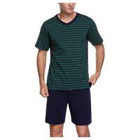 Herren Trainingsanzüge Baumwolle Home Nachtwäsche Sets V-Ausschnitt Gestreifte T-Shirts Solide lose Shorts Sommer Hohe Locke Casual Pyjamas 2-teilige Anzüge