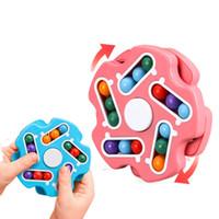 brinquedo de descompressão Fidget dupla face Fingertip girando inteligência girando feijão mágico cubo brinquedos educativos